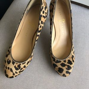 """Calf hair/ leather  """"leopard"""" shoes"""